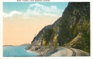 Ontario Canada~Lake Superior~Mink Railroad Tunnel~1920s Postcard