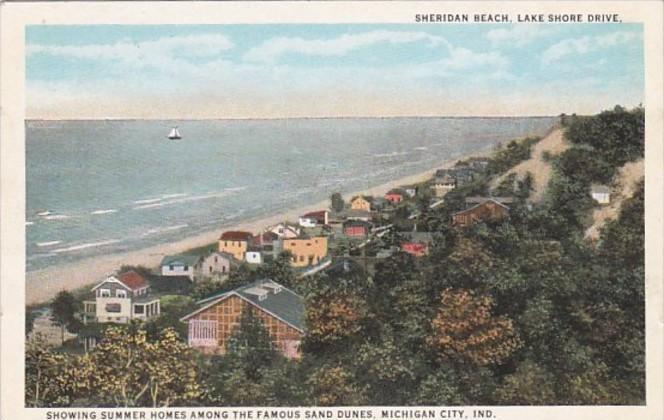 Indiana Michigan City Sheridan Beach Lake S Drive Showing Summer Homes Am