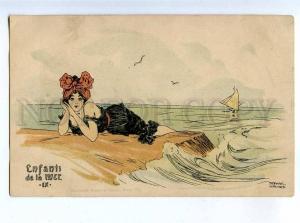 199080 MERMAID Enfants de la mer RAPHAEL KIRCHNER Art Nouveau