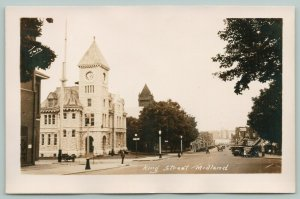 Midland Ontario~2:25 PM @ Library on King St~St Paul's United Church~RPPC c1910