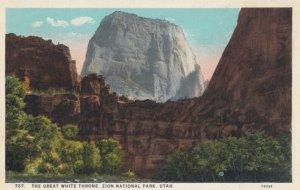 ZION National Park , Utah , 1910s ; The Great White Throne