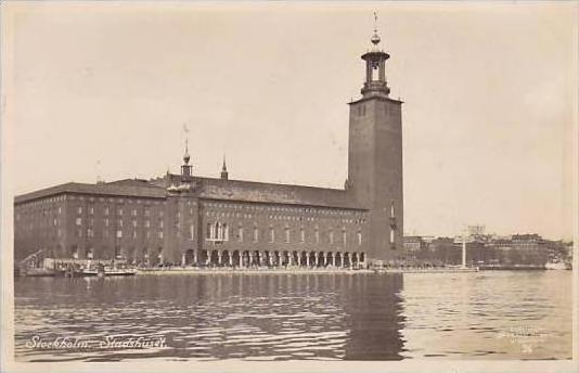 Sweden Stockholm Stadshusset 1935 Real Photo