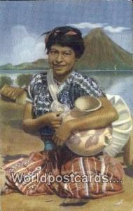 Chinautla Guatemala, Central America La Muchacha de la Tinaja Chinautla La Mu...