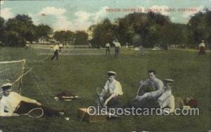 Tennis Postcard Chicago, IL, USA Tennis Court in Lincoln Park