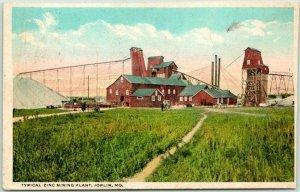 Vintage JOPLIN, Missouri Postcard Typical Zinc Mining Plant 1922 RPO Cancel