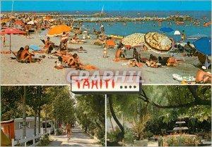 Postcard Modern Tahiti Camping in Waterfront Frontignan Owner Marcel Jean Beach
