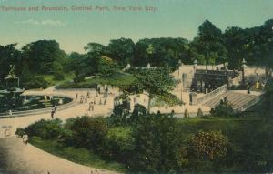 Terraces and Fountain - Central Park NYC, New York City - DB