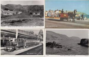 Niarbyl Manx Railways Florrie Fords Bungalow 4x Real Photo Isle Of Man Postcard