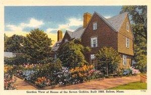 Garden View in Salem, Massachusetts House of Seven Gables.
