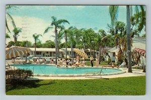 St Petersburg FL- Florida, Cocoanut Grove Motel Advertising,Chrome c1965Postcard
