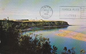 Lighthouse , Riviere Madeleine , Gaspe Nord , Quebec , Canada , PU-1966