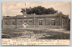 Upper Alton Illinois~Western Military Academy Drill Hall~Gymnasium~1906 B&W PC