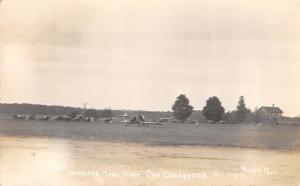 Biplane Aeroplane RPPC Flight During Dedication of A Dam~Oct 11/12 1913 RPPC