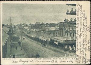 new zealand, NEW PLYMOUTH, Devon Street (1905) Stamp