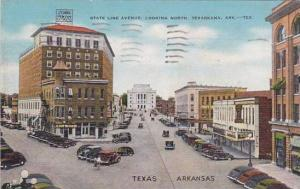 Arkansas Texarkana State Line Avenue Looking North 1943