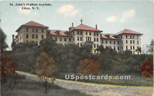 St John's Orphan Asylum Utica NY Unused