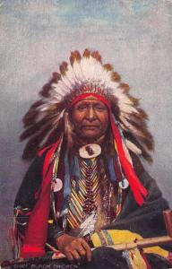 Indian Chiefs Black Chicken Indian Raphael Tuck #3495 Postcard