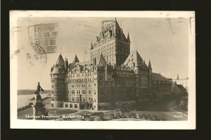 Postmarked 1947 Quebec City Chateau Frontenac Real Photo Postcard