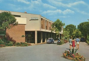 Riva Dela Sole French International Village Restaurant Bar Postcard