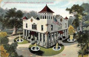 Cedar Point Sandusky Ohio c1910 Postcard Lake Erie Administration Building