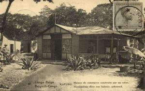 belgian congo, KAFUBU, Business House built by a Settler (1924) Postcard (81)