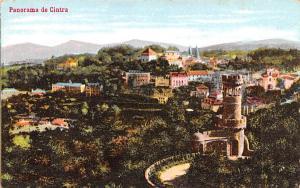 Portugal Old Vintage Antique Post Card Panorama de Cintra Unused