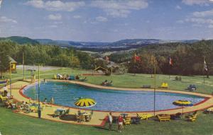 MONT GABRIEL, Quebec, Canada, PU-1962; The Mont Gabriel Club, View Of The Swi...