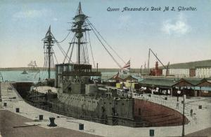 gibraltar, Queen Alexandra's Dock No. 2 (1910s)