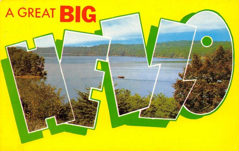 Bristol Indiana~A Great BIG Large Letter Hello~St Joseph River Scene 1950s