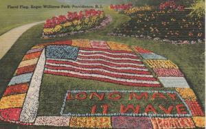 Floral Flag Garden ar Roger Williams Park - Providence RI, Rhode Island - Linen