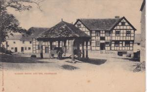 PEMBRIDGE, Herefordshire, England, 1900-1910's; Market House And Inn