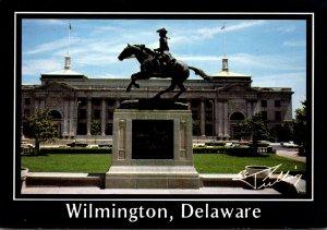 Elaware Wilmington Caesar Rodney Statue & City Hall and Municipal Building