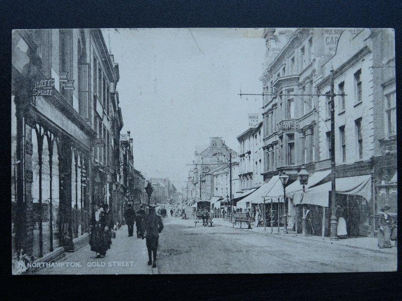 NORTHAMPTON Gold Street - Animated Scene c1907 Postcard by Raphael Tuck 2170