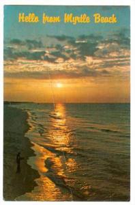 Sunrise fishing,  Myrtle Beach,   South Carolina, PU_1986