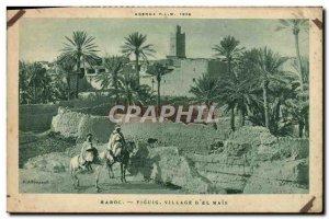 Old Postcard Morocco Figuig Village D & # 39El But