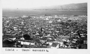 Izmir Turkey Scenic View Real Photo Antique Postcard J48036