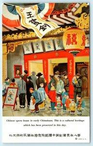 SAN FRANCISCO, CA  Advertising KAN'S RESTAURANT 1963 Chinese Opera Postcard