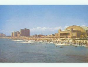 Unused Pre-1980 CONVENTION HALL AND HOTEL Atlantic City New Jersey NJ hr4054