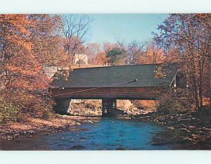Unused Pre-1980 COVERED BRIDGE Enfield New Hampshire NH t7599@