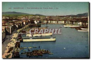 Old Postcard Marseille general view of the old port