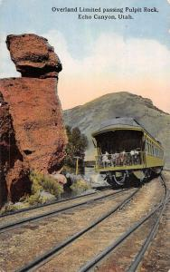 Echo Canyon Utah Pulpit Rock Trolley Antique Postcard K70854
