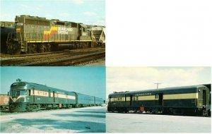 Seaboard Air Line and Seaboard Coast Line Railroad Lot of 3 Postcards