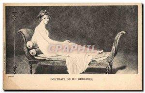 Old Postcard Madame Recamier Portrait