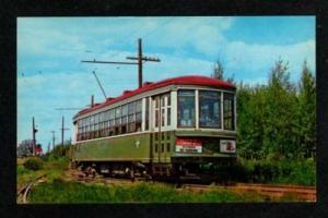 PQ Trolley Train Car MONTREAL QUEBEC Canada Postcard QC Carte Postale Streetcar