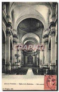 Old Postcard Aix en Provence Madeleine Church Nave