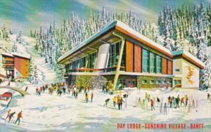Canada Skiers At Day Lodge Sunshine Village Banff Alberta