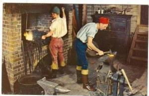 Blacksmiths, Deane Forge, Williamsburg, Virginia, 40-60s