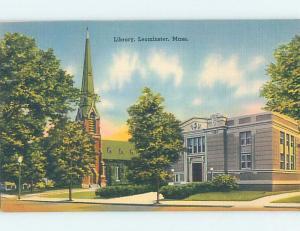 Unused Linen LIBRARY Leominster - Near Fitchburg Massachusetts MA d6083-12