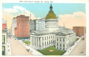 Old Court House, St. Louis, MO Broadway & Market Streets, Postcard