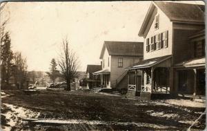 Morehouseville NY~Hamilton County~Street~Homes~John McQuaid Want Sheep~1913 RPPC